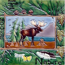 Nature Moose Tile Wall Decor