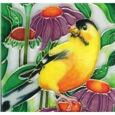 Gold Finch Tile Wall Decor
