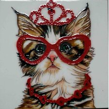Princess Cat Tile Wall Decor