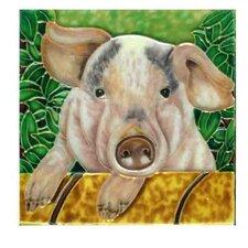 Pig Tile Wall Decor