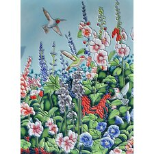 Hummingbird with Light Blue Background Tile Wall Decor