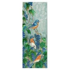 Blue Bird with Grapes Tile Wall Decor