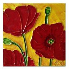 Red Poppy #1 Tile Wall Decor