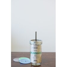 24 oz Tumbler Wide Mouth with Lid and Gray Straw