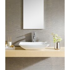 Modern Vitreous Rectangle Vessel Bathroom Sink