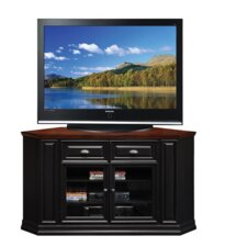 Black Cherry 62 Corner TV Console