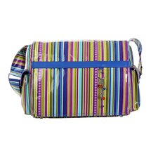 Padded Multitasker Cobalt Stripes Messenger Bag