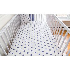 Polka Dots Organic Crib Fitted Sheet