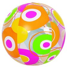 Colorful 6-Panel Circle Print Inflatable Beach Ball Swimming Pool Toy