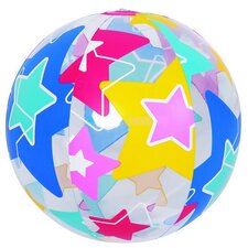 Colorful 6-Panel Star Print Inflatable Beach Ball Swimming Pool Toy