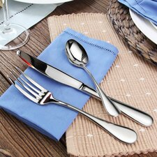 Rain 36 Piece 18/10 Stainless Steel Flatware Set
