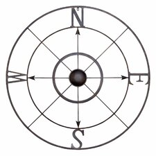 Simple Retro Compass Rose Wall Decor