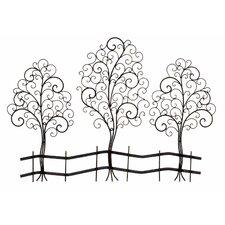 Metal Tree Sculpture Wall Decor