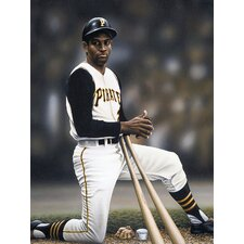 Roberto Clemente on Deck Artwork by Darryl Vlasak Photographic Print on Wrapped Canvas