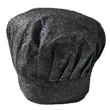 Chambray Black Chef Hat