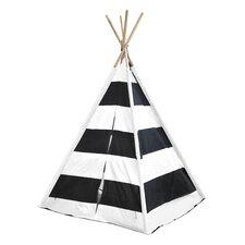 Kids Play Tent in Black & White Stripes