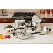 17 Piece Stainless Steel Cookware Set