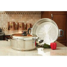Precise Heat 3 Piece Stainless Steel Skillet and Steamer set with Lid