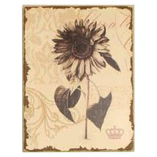 Antiqued Floral Painting Print on Wrapped Canvas