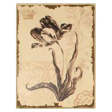 Graceful Floral Painting Print on Wrapped Canvas