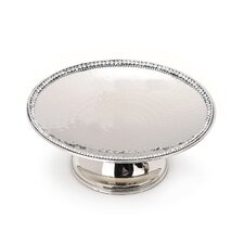 Prism Hammered Stainless Steel Cake Stand