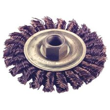 "Knot Wire Wheel Brushes - 4"" dia. whl. 5/8-11 thrdarbor cable twist"