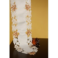 Fine Linen Fall Leaves Table Runner