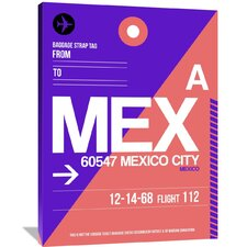 MEX Mexico City Luggage Tag 1 Painting Print on Wrapped Canvas