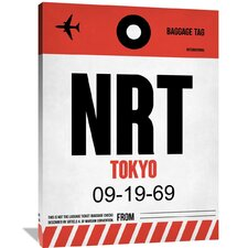 NRT Tokyo Luggage Tag 1 Painting Print on Wrapped Canvas