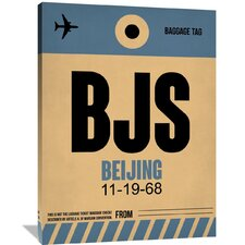 BJS Beijing Luggage Tag 2 Painting Print on Wrapped Canvas