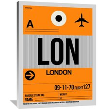 LON London Luggage Tag 1 Painting Print on Wrapped Canvas