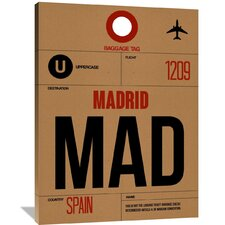 MAD Madrid Luggage Tag 2 Painting Print on Wrapped Canvas