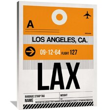 LAX Los Angeles Luggage Tag 2 Painting Print on Wrapped Canvas