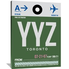 YYZ Toronto Luggage Tag 1 Painting Print on Wrapped Canvas
