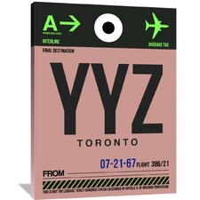 YYZ Toronto Luggage Tag 2 Painting Print on Wrapped Canvas