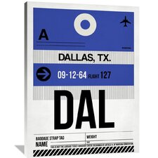 DAL Dallas Luggage Tag 1 Painting Print on Wrapped Canvas