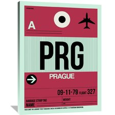 PRG Prague Luggage Tag 2 Painting Print on Wrapped Canvas