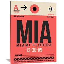 MIA Miami Luggage Tag 1 Painting Print on Wrapped Canvas