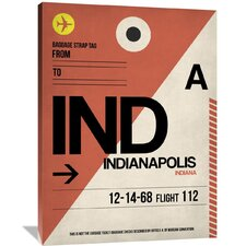 IND Indianapolis Luggage Tag 1 Painting Print on Wrapped Canvas
