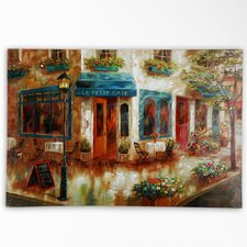 Le Petit Cafe by Nan F Painting Print on Wrapped Canvas