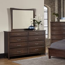 Commentary 8 Drawer Triple Dresser with Mirror