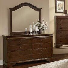 French Market 6 Drawer Storage Dresser with Mirror