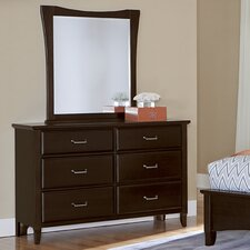 Commentary 6 Drawer Dresser with Mirror