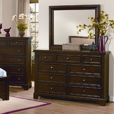 Hanover 9 Drawer Dresser with Mirror