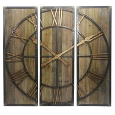 Multi Panel Clock Wall Decor