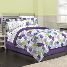 Graphical Daisy 6 Piece Bed in a Bag Set
