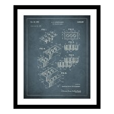 1961 Toy Building Brick Patent Framed Photographic Print