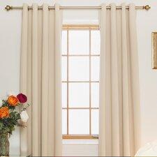 Blackout Nickel Grommet Top Curtain Panel (Set of 2) (Set of 2)