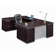 Pimlico U-Shape Executive Desk with Personal File