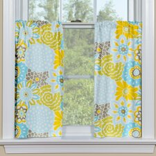 Button Blooms Spa Tier Curtain (Set of 2)